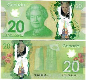 "Canada 20 Dollars 2012 UNC ""FZN"" Wilkins-Poloz"