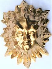 """Handmade 8"""" Folk Art Golden Sun Wall Sculpture, Home Decor by Claybraven"""