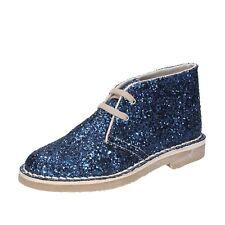 Damen schuhe FIRPO 37 EU desert boots blau glitter BT898-37