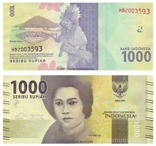 Indonesia 1000 Rupiah 2016 Replacement  P-New  New Design Banknotes UNC