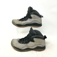 Air Jordan 10 Retro GS Basketball Sneakers Shoes Lace Up Mid Cool Grey Youth 5.5