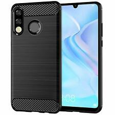 For Huawei P30 lite New Edition Case Carbon Gel Cover Ultra Slim Shockproof