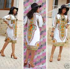 Women's Sexy Summer Bohemia Traditional African Print Dashiki Bodycon Mini Dress