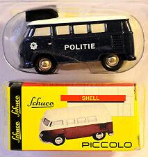 VW Bus T1 POLITIE BLEU BLEU 1:90 SCHUCO PICCOLO 01315