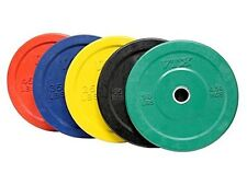 Troy VTX 260lb Colored Olympic Rubber Bumper Plates Weight Set for Fitness