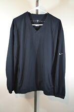 Nike Golf Men's Large Fit Storm Black Windbreaker Pullover Jacket Shirt Pockets