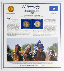 2001-P&D U.S MINT SET KENTUCKY STATE QUARTERS RARE BLUE AND PURPLE SPOT TONING