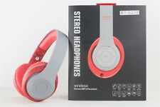 Over-the-Head Stereo Bluetooth Headset for iPhone 7 6S 6 5, All Smartphones, Red