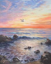 J. Litvinas Original Oil Painting 'OCEAN COAST' 8 by 10 inches