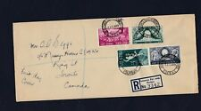 1949 South Africa Voortrekker Monument Stamps Registered First Day Cover