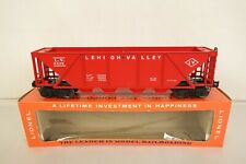 LIONEL POSTWAR #6436-110 LEHIGH VALLEY RED QUAD BAY HOPPER CAR-MINT IN OB!