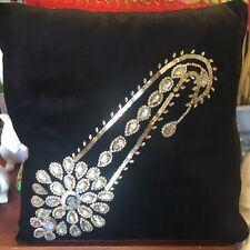Handmade Embroidered Work Cushion Cover  40X40 Cm