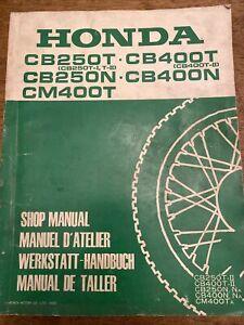 RARE HONDA CB250 CB400 English Deutsch Italiano Espanol Maual Handbuch