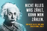 Albert Einstein Collage Dicton 1 Panneau Métallique Plaque Voûté Étain Signer