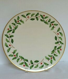 """RARE LARGE Dinner Plate 11 3/4""""  Lenox Holiday Dimension Fine China Made in USA"""