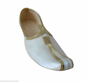 Men Shoes Indian Wedding Sherwani Flip-Flops Punjabi Khussa Flat US 7