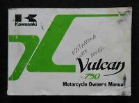 1991 KAWASAKI VULCAN 750 MOTORCYCLE OWNERS OPERATORS MANUAL GOOD SHAPE