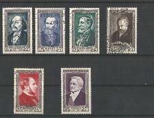 timbre de france en oblitere coté 60€ n 930/935 les 6 valeur