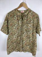 MONDI Bluse, Vintage, mehrfarbig, Größe 42, 100% Baumwolle