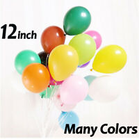 "12"" Plain Latex Balloons Birthday Wedding Round Baloons Party Decor Supplies Bal"