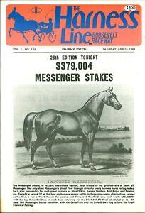 1983 Harness Horse Racing Program Roosevelt Messenger Stakes Ralph Hanover Won!