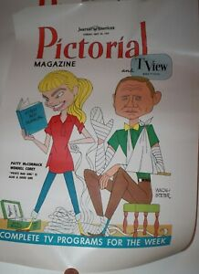 Pictorial & Tview Magazine 1959 Cover Proof Peck's Bad Girl Patty McCormack