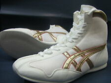 Asics Boxing Shoes Mid White x Gold × Red free shipping from Japan New F/S