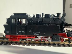 LGB G Scale 22801 Harzquer Railway Tank Steam Loco 996001 w/Smoke & Lights