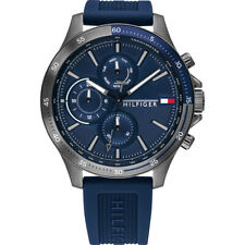 Tommy Hilfiger Sub-Dial Blue Silicone Strap Multi-Function Men's Watch 1791721