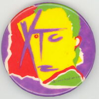 XTC 1979 Drums And Wires' Album Cover Original Stickback Pinback Button Pin