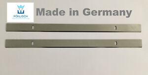 """2 Hobelmesser für POWERPLUS POW X204 - POW X204A """"MADE IN GERMANY"""" HSS"""