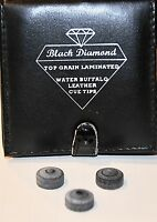 3 pieces Original black diamond buffalo pool Cue Tips billiards, custom vintage