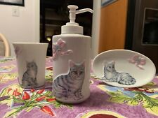 Black Cat Bathroom Accessory Set Soap
