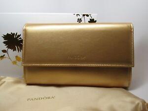 Pandora Limited Ed. Shine Gold Clutch Handbag w/ Box Collectable Pandora Swag