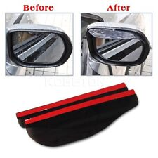 2pcs Black Car Rear View Side Mirror Rain Board Eyebrow Sun Visor Shade Shield