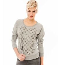 FRENCH CONNECTION GREY JACQUI DAZZLE SWEATSHIRT BNWT SIZE L/12 Rrp £80