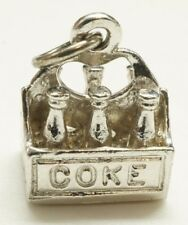 "Vintage / Sterling Silver / Six Pack Of Coke / Charm Pendant / Size: 3/8""(4.1g)"