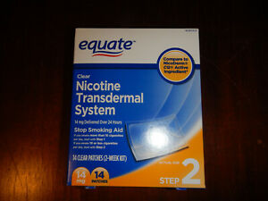 EQUATE NICOTINE PATCH  STEP 2 And STEP 3 * CLEAR PATCH, 7mg + 14m EXP 07/22