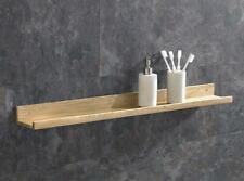 Oak Wall Shelf Bathroom Bedroom Dining Living Room 450mm Single