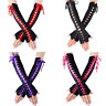 Women's Sexy Elbow Length Fingerless Lace Up Arm Warmer Long Lace Punk Gloves