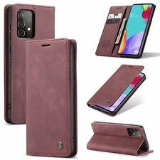 Samsung Galaxy A52 5G Handyhülle Schutztasche Case Flip Cover Wallet Etui Rot