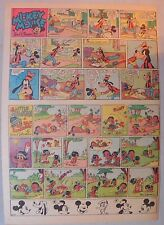 Mickey Mouse Sunday Page by Walt Disney from 8/24/1941 Tabloid Page Size