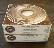 2 Yankee Rotary 100 Slide Trays in boxes  holds 100 2 x 2 slides each