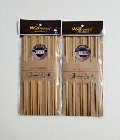 20 Chopsticks Bamboo Wood Plain Chop Sticks Beautiful Gift Set NEW (10 Pairs)