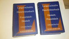 Langenscheidts Handwörterbuch - 2 tomes - Français/Allemand - Allemand/Français