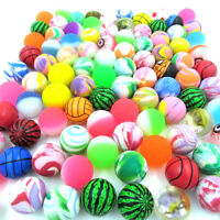 10pcs Coloful BOUNCY JET BALLS BIRTHDAY PARTY LOOT FILLERS BAG G5F6 Cute