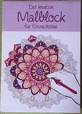 """Der kreative Malblock für Erwachsene """" Mandalas """" 16 Designs / Din A4 - Malbuch"""