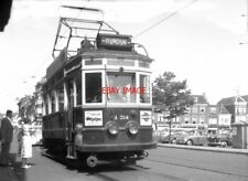 PHOTO  NETHERLANDS TRAMS 1959 LEIDEN NZH  A TRAM NO  314 ON LOCAL SERVICE