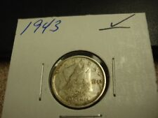 1943 - Canada - silver 10 cent coin - Canadian dime