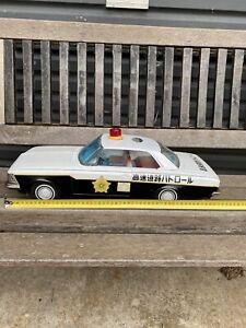 Large Chiko Tin Friction Police Car